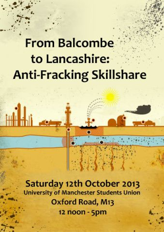 Anti-fracking Skillshare - flyer